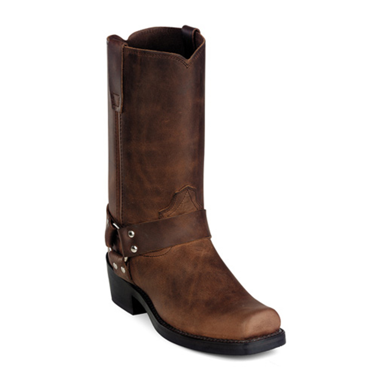 durango gaucho distressed leather brown harness boots