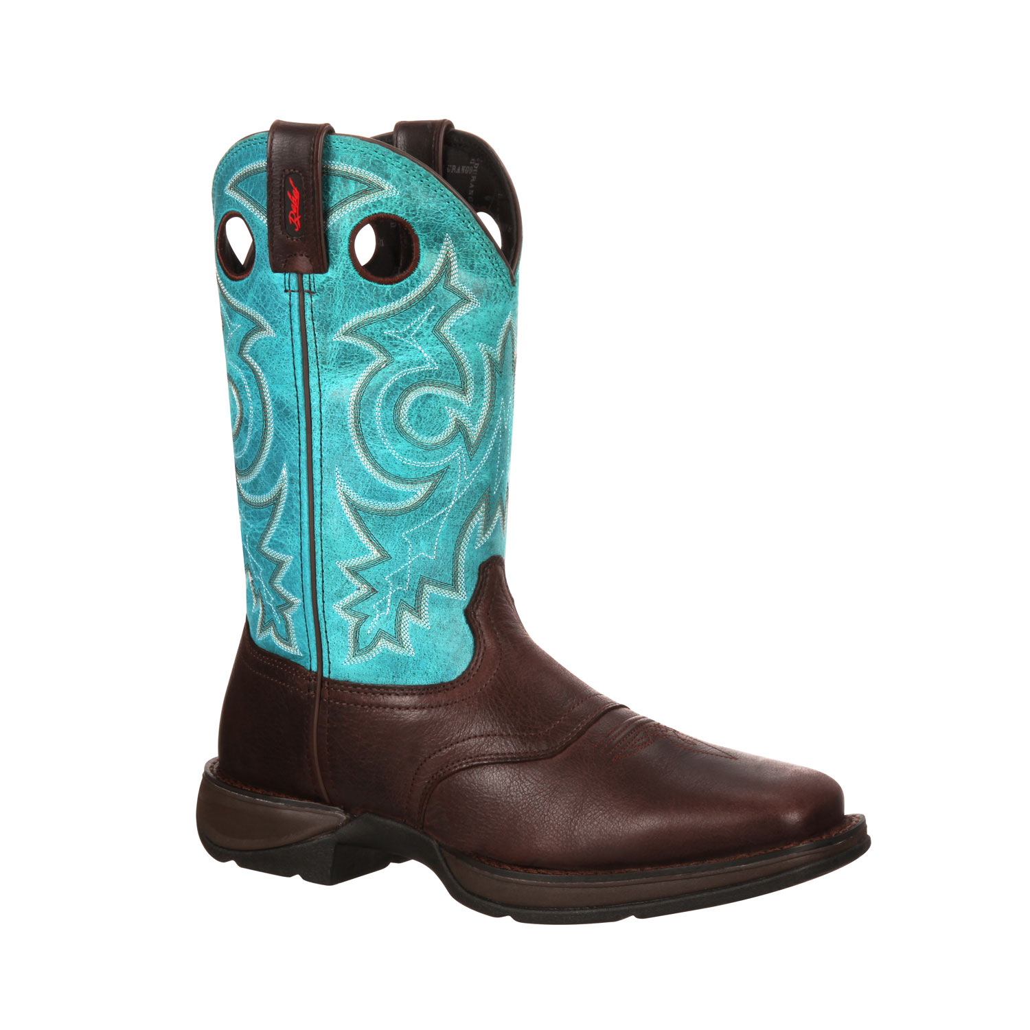 durango s rebel saddle pull on western boot brown and
