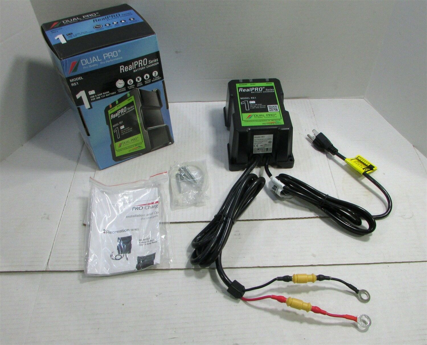 Details about Dual Pro Realpro Series 6a 1 Bank Battery Charger RS1