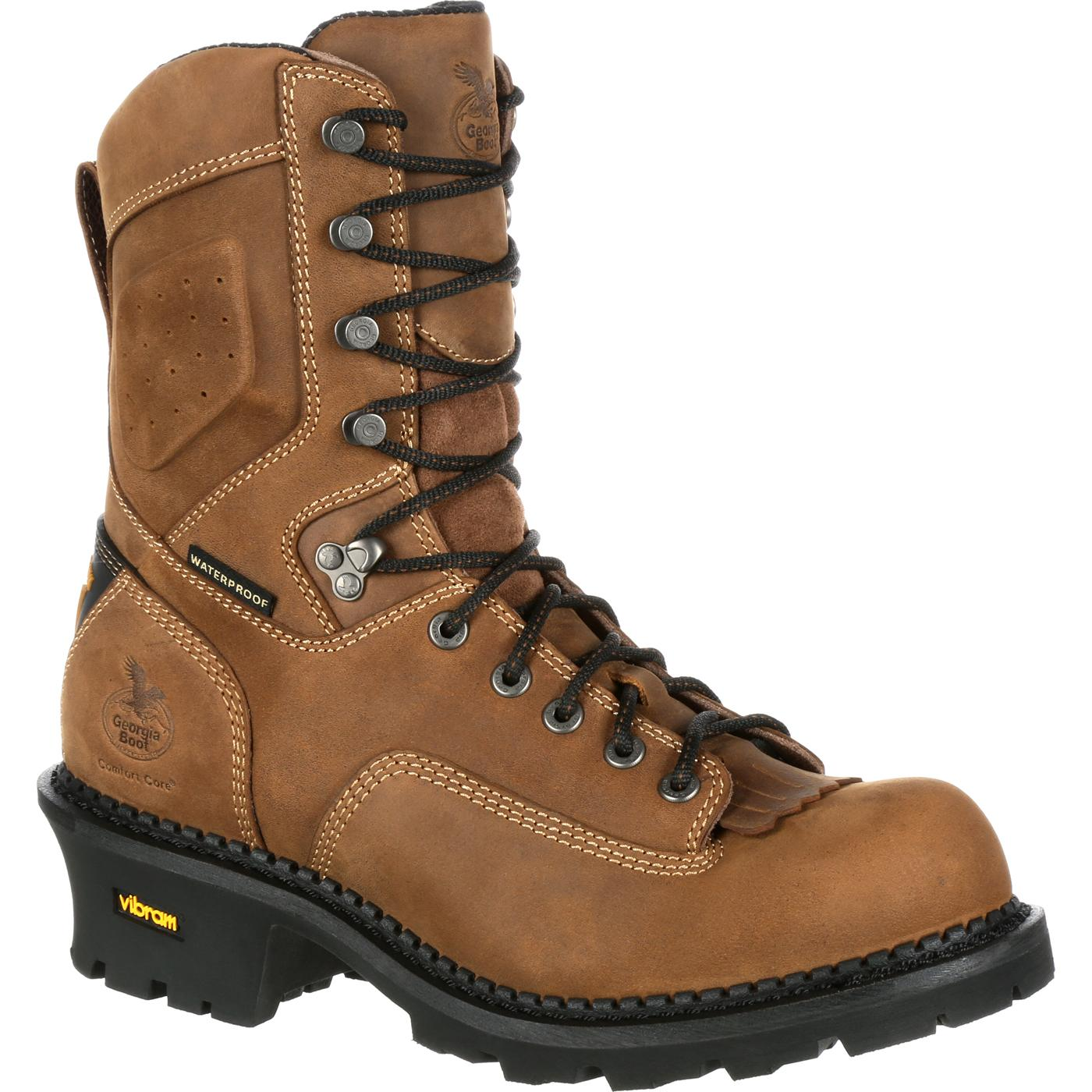 Georgia Comfort Core Logger Composite Composite Composite Toe Waterproof Work Boot Brown GB00097 09d56d