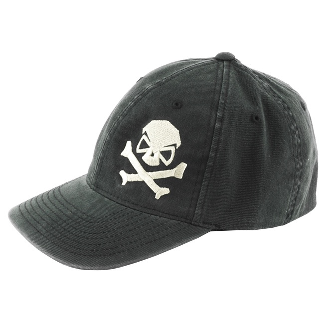 7dd50499fd6 Details about Pipe Hitters Union Skull and Cross Bones Hat L XL Black White  PC501BPEWLX