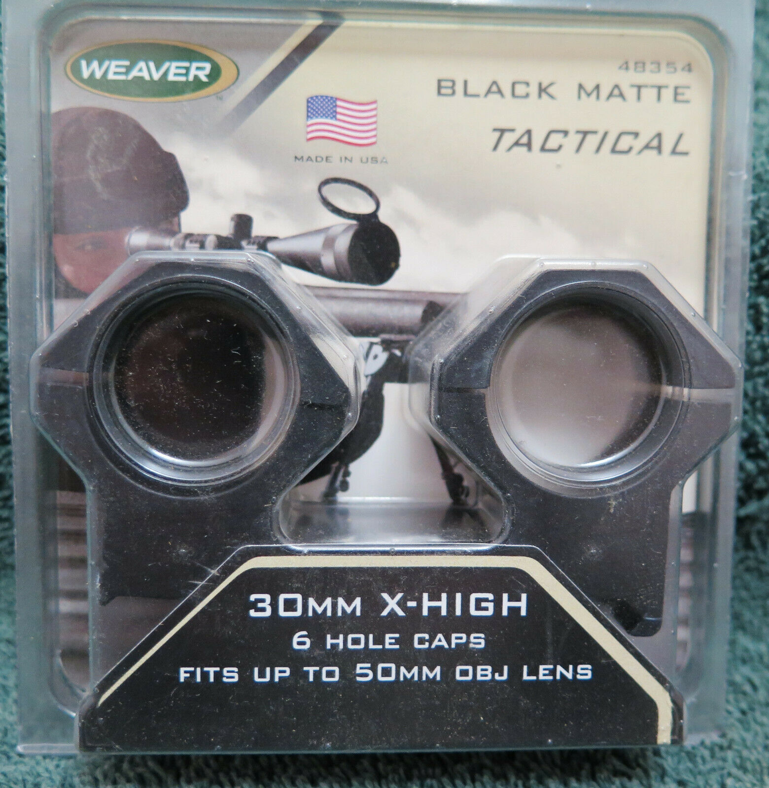 Weaver 48354 Tactical Ring 30mm Extra High Matte 6-Hole WV48354