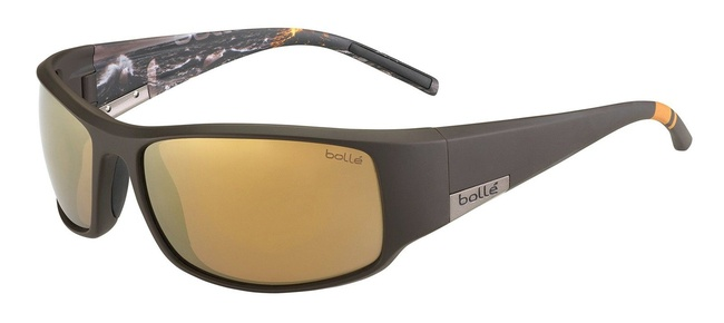 460cac0503 Details about Bolle King Sunglasses Matte Brown Sea Polarized Inland Gold  Oleo AF Lens 12120